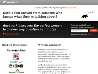 Google grabs an Aardvark and implores you to ask it questions