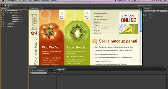 Adobe Edge HTML5 Web Animations Tool available for download now