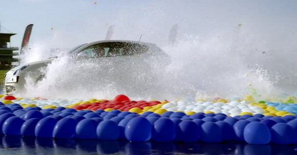Alfa Romeo snatch much prized 'most amount of water balloons burst by a car' world record