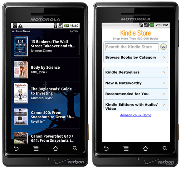 Android Kindle app gets updated with voice searching and notes