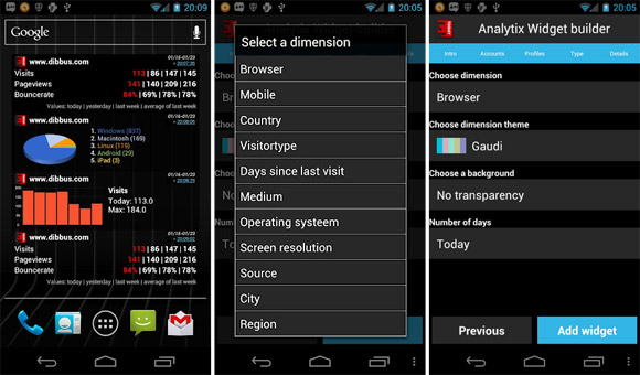 View your Google Analytics data in a stylish fashion with Analytix for Android