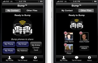 Bump: share pics and contacts by tapping phones together (Android/iPhone)