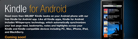 Amazon readies Kindle app for Android
