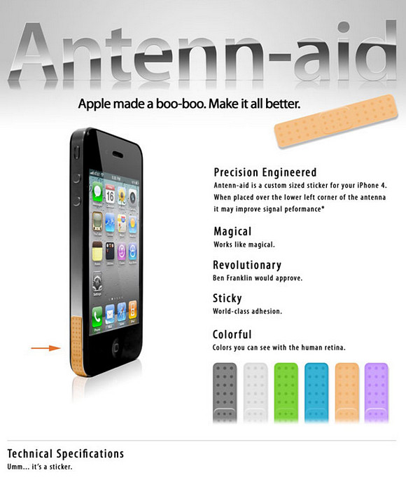 Antenn-aid offers a sticking plaster for iPhone 4s