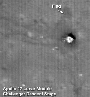 Apollo 17 site photographed by Lunar Reconnaissance Orbiter