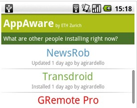 App Aware tracks downloading trends for Android Market