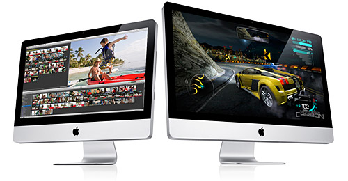 Apple new iMacs: 21.5 and 27-inch displays
