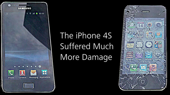 Apple iPhone 4S smashes in drop test, Galaxy S2 emerges as hard as nails