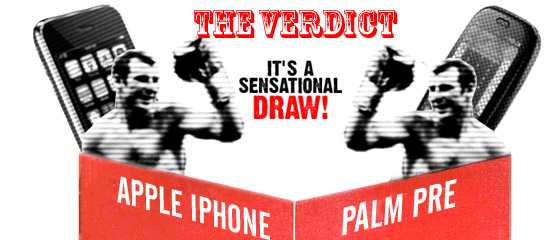 FIGHT! Palm Pre vs Apple iPhone 3GS - a battle of the titans
