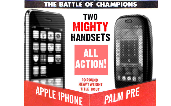 FIGHT! Palm Pre vs Apple iPhone 3GS - a battle of the titans
