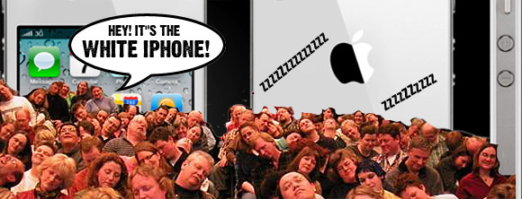 Apple supposedly set to release white iPhone4. Really. Who gives a chuff?