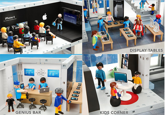 PLAYMOBIL Apple Store Playset for junior fanboys
