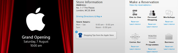 Apple Covent Garden store opens Saturday. We avoid