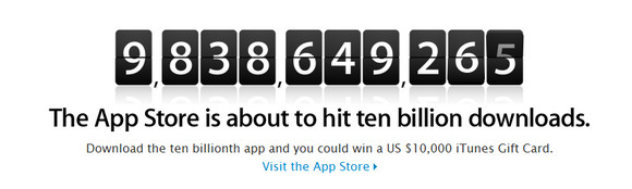 Apple App Store to hit ten billion downloads