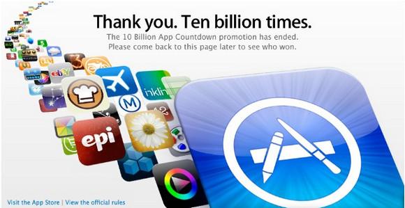 Apple hits 10 billion app downloads. Let the high fiving begin