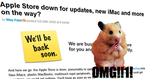 Apple's ridiculous 'back  soon' sticky