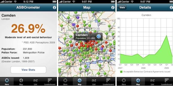 ASBOrometer app tracks hoodie activity in your location