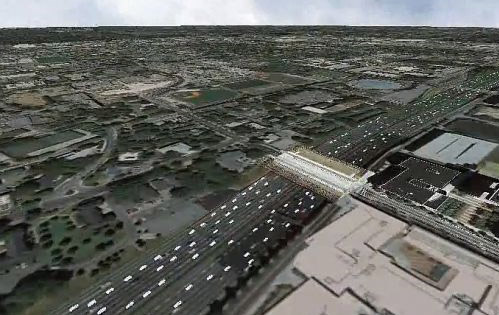 Augmented Google Earth comes alive with real-time traffic, cars...