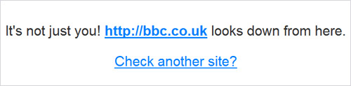 BBC website down