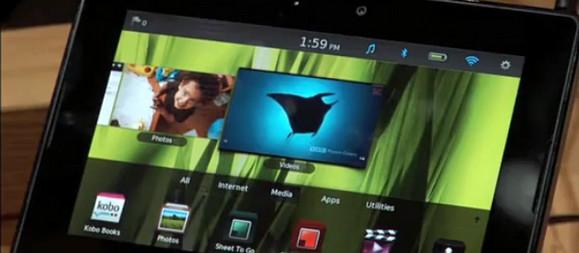 BlackBerry Playbook tablet gets hands on video demo