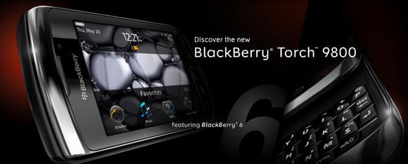 BlackBerry Torch 9800 announced