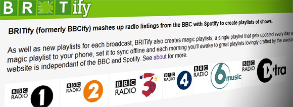 Silence inane BBC DJ blather with Britify Spotify playlists