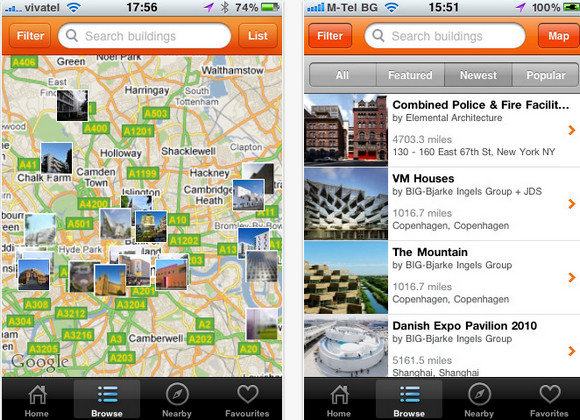 Find great architecture with fantastic free Buildings Android/iPhone app