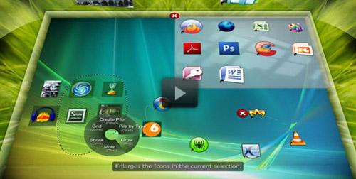 BumpTop offers fantastic multi touch Windows 7 interface