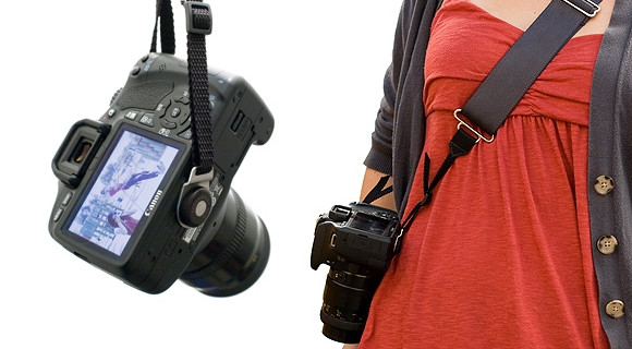 Camera Strap Buddy makes carrying your SLR less of a willy-waving experience
