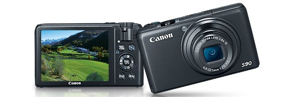 Canon PowerShot S90 - bronze prize, High End Compact Camera of 2009