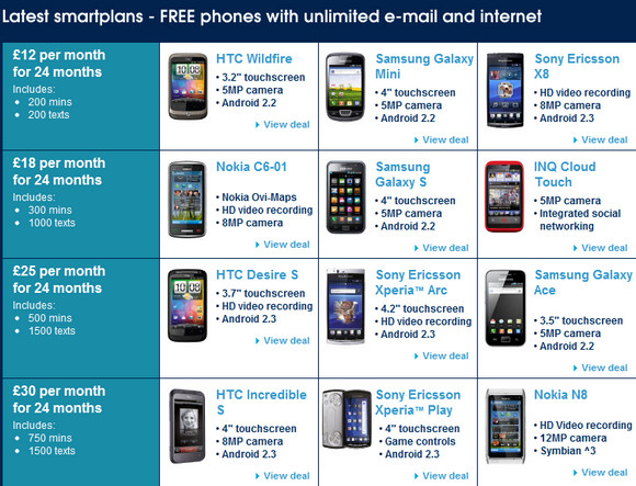 Carphone Warehouse Offers Unlimited Data Phone Deals For 12 Month Wirefresh