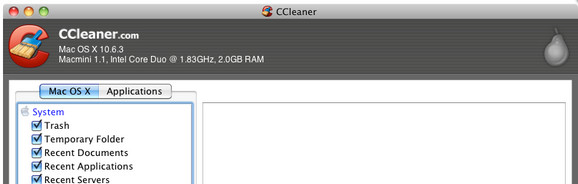 CCleaner for Mac clears out the system crap in one click