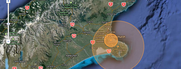 Christchurch Quake Map reveals relentless earthquake activity