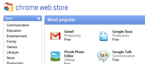 Google Chrome Web Store is live