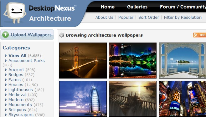 Tart up your desktop with free wallpaper from Desktop Nexus