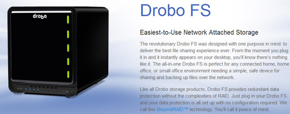Drobo-FS - great NAS drive, hideously unfriendly media server