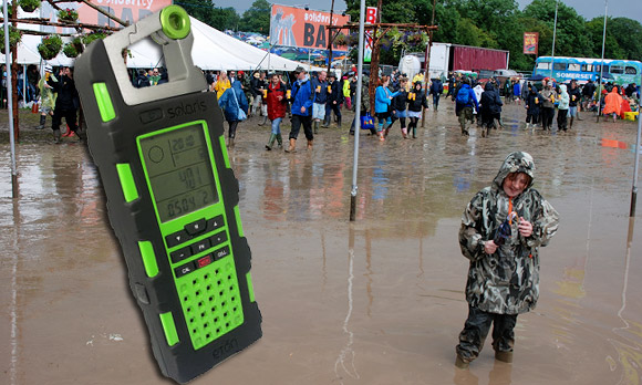 Eton Raptor solar powered gadget radio awaits the festival mud