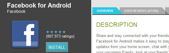 Facebook for Android updated to v1.5.3 with friend tagging