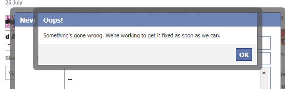 Freaking Facebook infuriates further with more flipping flaky errors