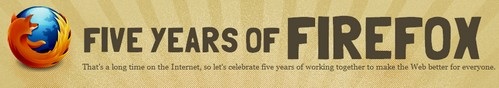 Firefox is five years old