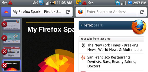 Firefox for Android ' 'three times faster than stock Android browser'