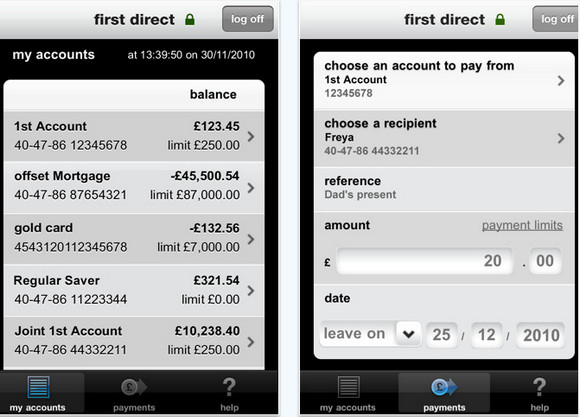 first direct launch iPhone App for 'convenient banking on the go'