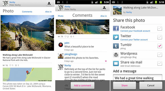 Flickr releases official Android app with easy editing, slideshows and sharing
