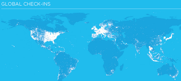 Foursquare hits 6m users registering 381m check-ins for2010