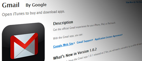 A suitably red faced GMail app returns to the Apple App Store