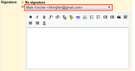 GMail adds rich text signatures