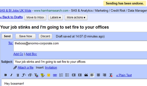Avoid catastrophic email blunders with Gmail Undo Send