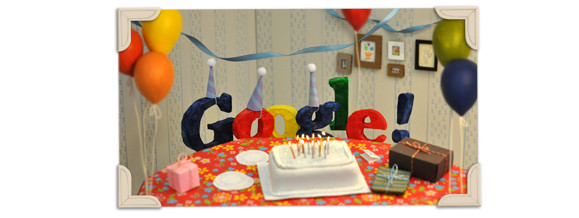 Google celebrates 13th birthday with homely doodle