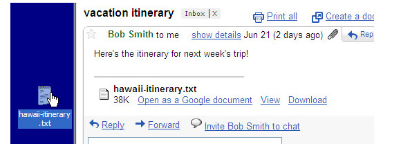 GMail adds drag and drop attachments and multiple=