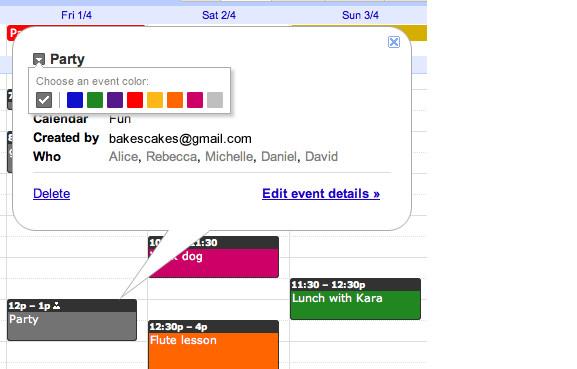 At last - colour coding comes to Google Calendar events